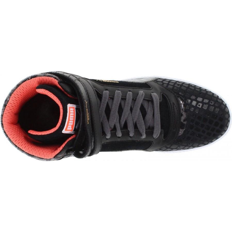 спортни Puma кожени черни обувки