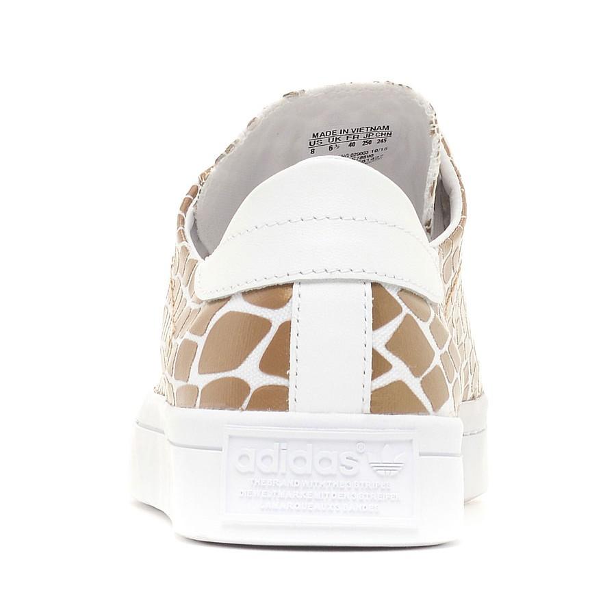 Златни спортни обувки Adidas Court Vantage