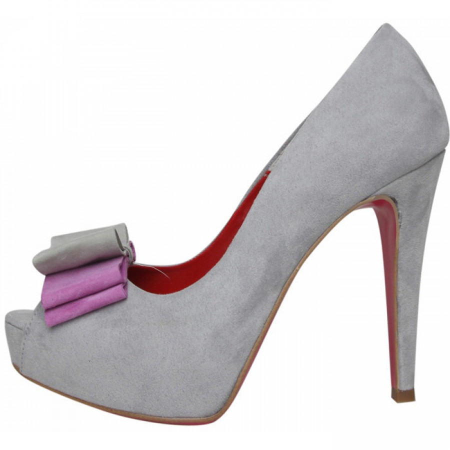 Обувки на платформа SCARPE ITALIANE Grigio